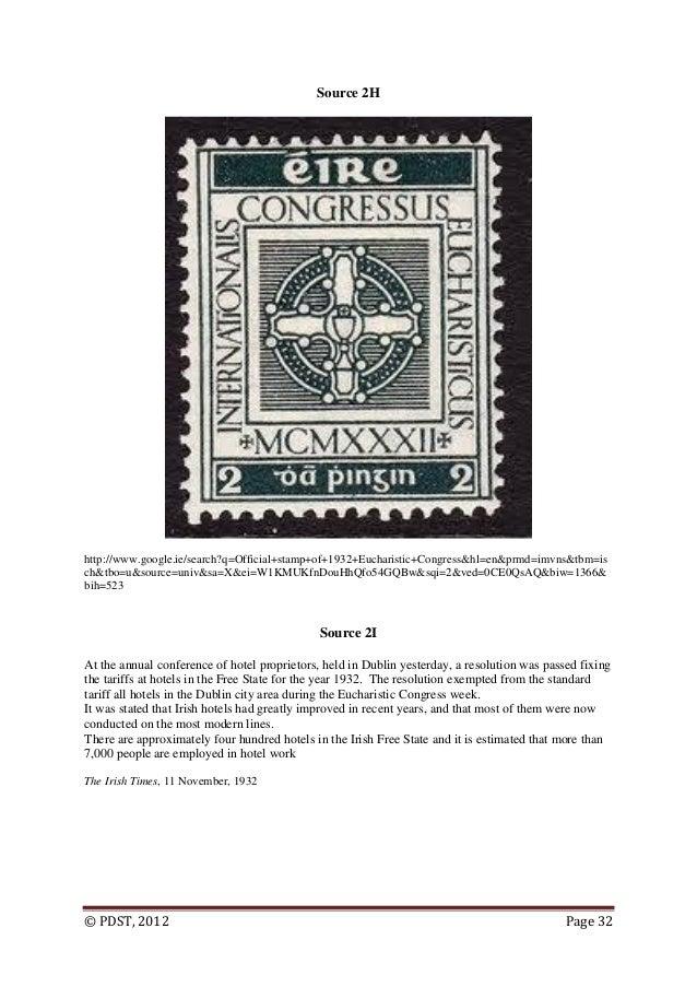 Eucharistic congress 1932 history essay