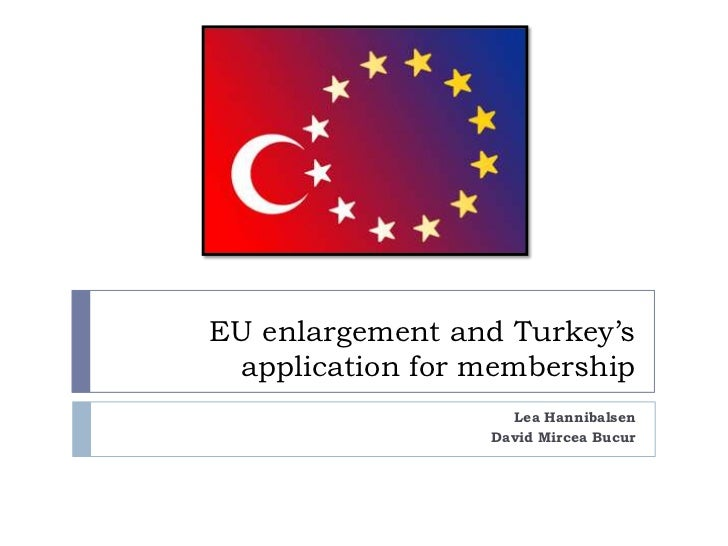 EU enlargement and Turkey's application for membership                   Lea Hannibalsen                 David Mircea Bucur