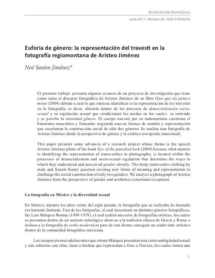 Revista Versión Nueva Época                                                              junio 2011 • Número 26 • ISSN: 01...