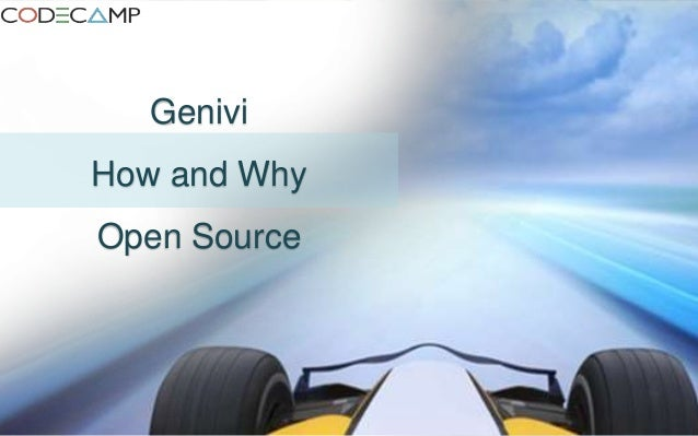 Genivi How and Why Open Source