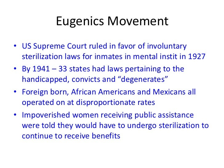 advantages of eugenics Positive eugenics encouraged reproduction among individuals with hereditary  advantages, whereas negative eugenics sought to prevent.