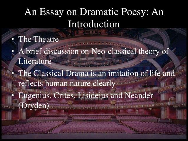 Essay of dramatic poesy