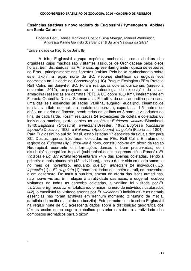 Essências atrativas e novo registro de Euglossini (Hymenoptera, Apidae) em Santa Catarina