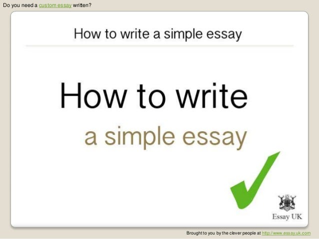 simple way to write a thesis C creating an outline and developed a high-powered thesis if you get a surge of inspiration part way through writing your paper and decide to take your.