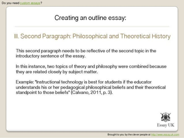 how to do an outline for an essay