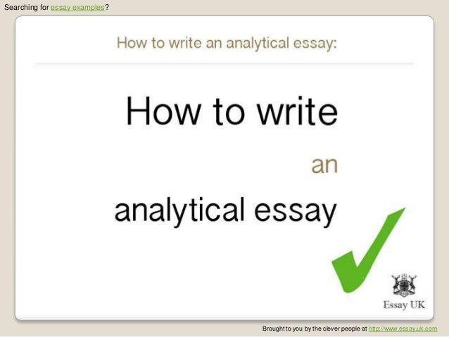 Who to write an analytical essay