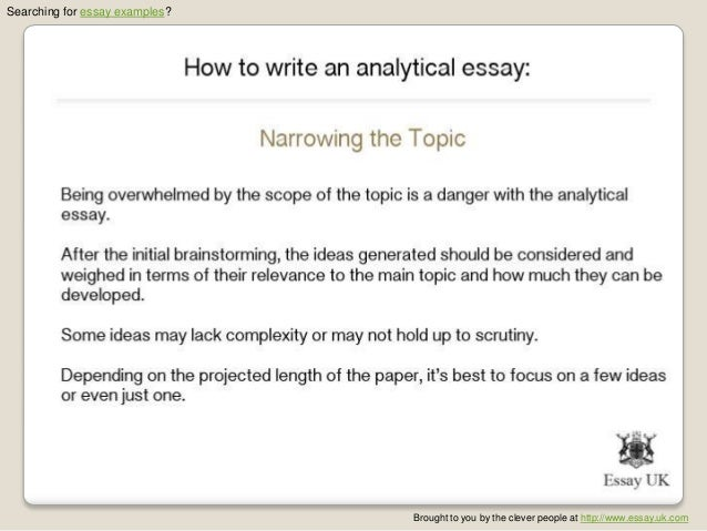 keys to writing a good analytical essay