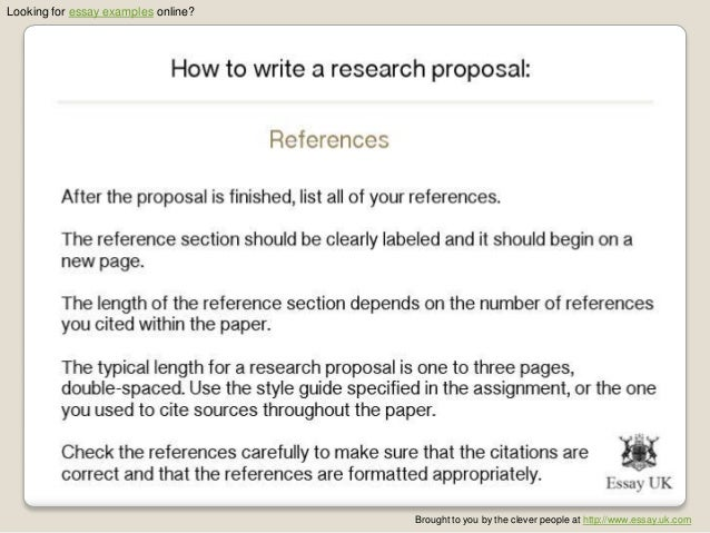 Sample of proposal essay