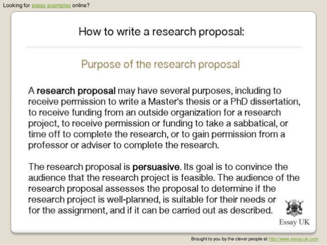 writing thesis proposal