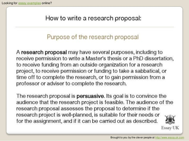 Proposal essay ideas example