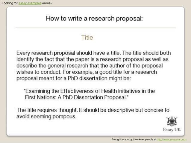 How to write an essay proposal example