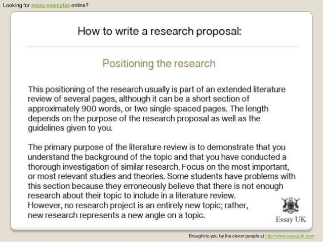 How to write an essay proposal