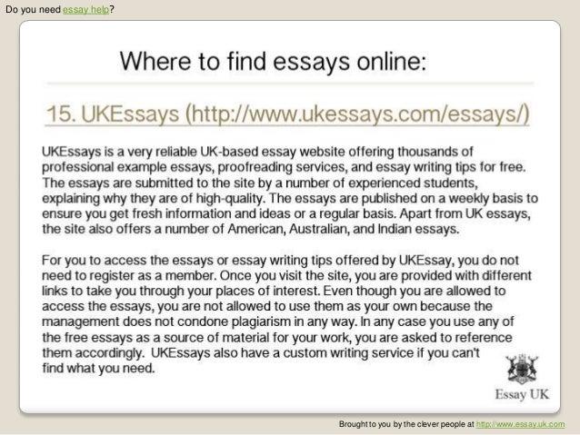 find essays online
