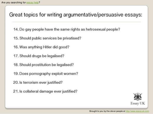Argumentative essay topics elementary students