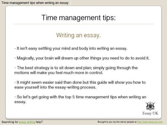 Essay on time management strategies