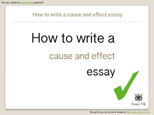 cause and effect thesis sentence