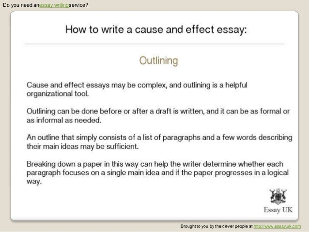cause effect essay samples