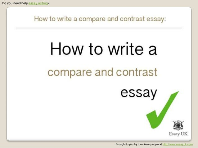 What to write a compare and contrast essay on