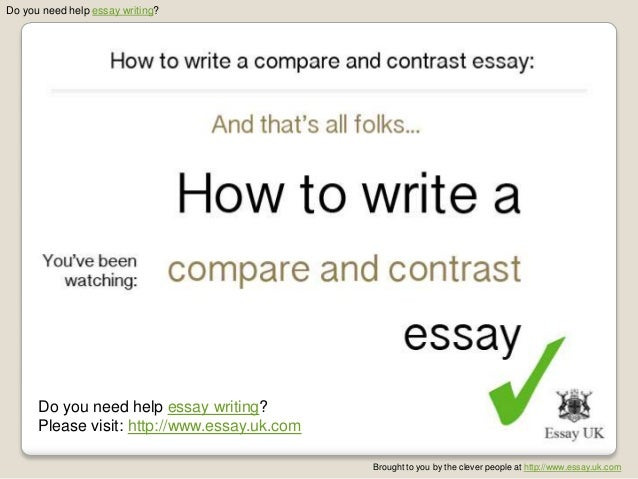 How to do a compare and contrast essay?