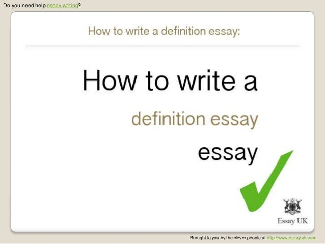 How to write a definition essay