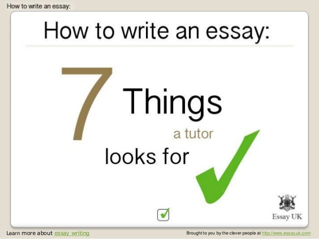 Learn more about essay writing Brought to you by the clever people at http://www.essay.uk.com