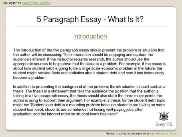 Parts of a five paragraph essay