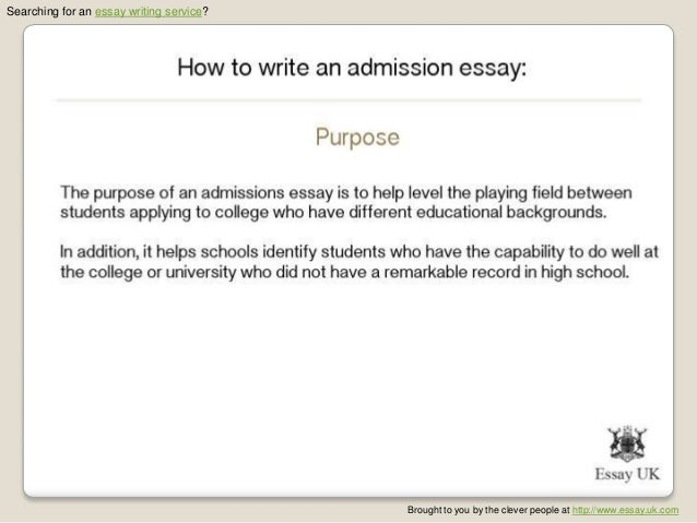 Admission essay writing 2