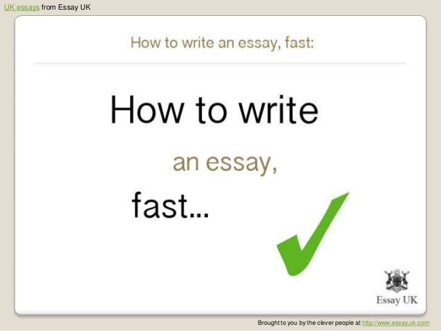 How to write a good essay fast