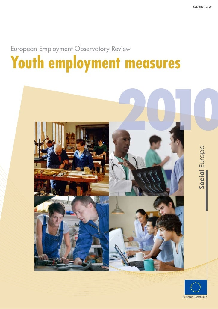 Youth employment measures