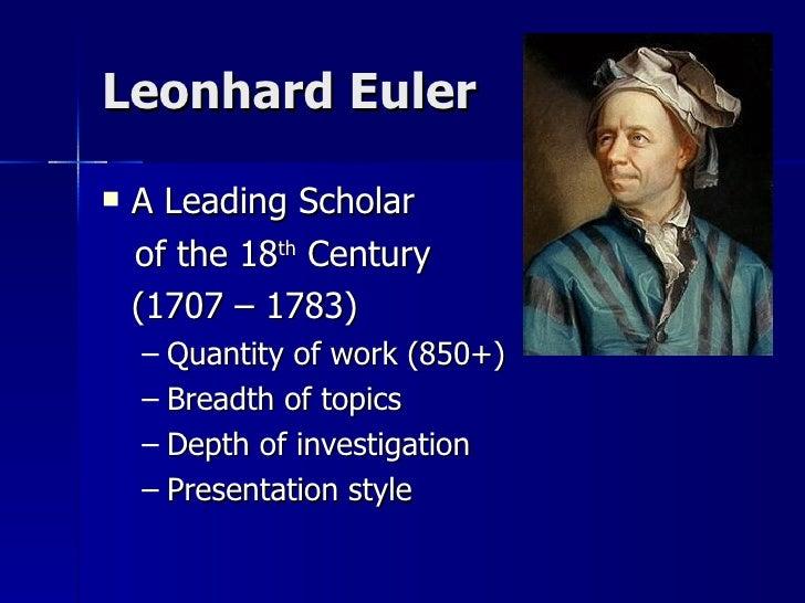 leonhard eular biography