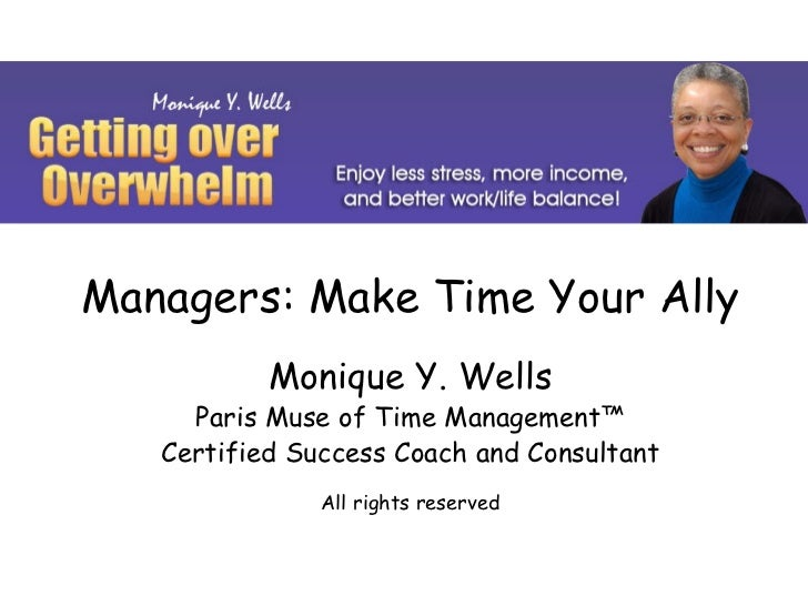 Euma spain make time your ally monique y. wells