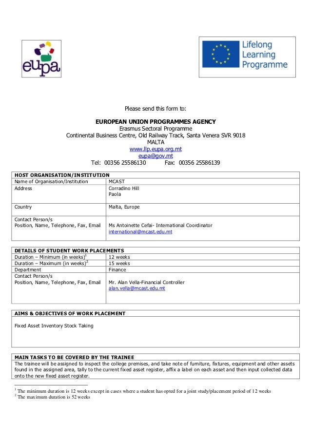Eupa   inventory stock taking - Malta