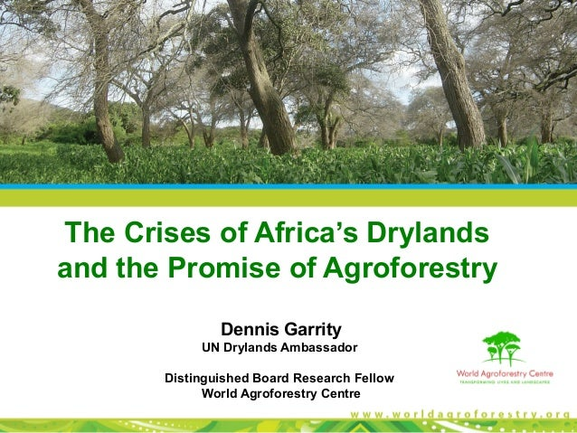 The Crises of Africa's Drylandsand the Promise of Agroforestry               Dennis Garrity            UN Drylands Ambassa...