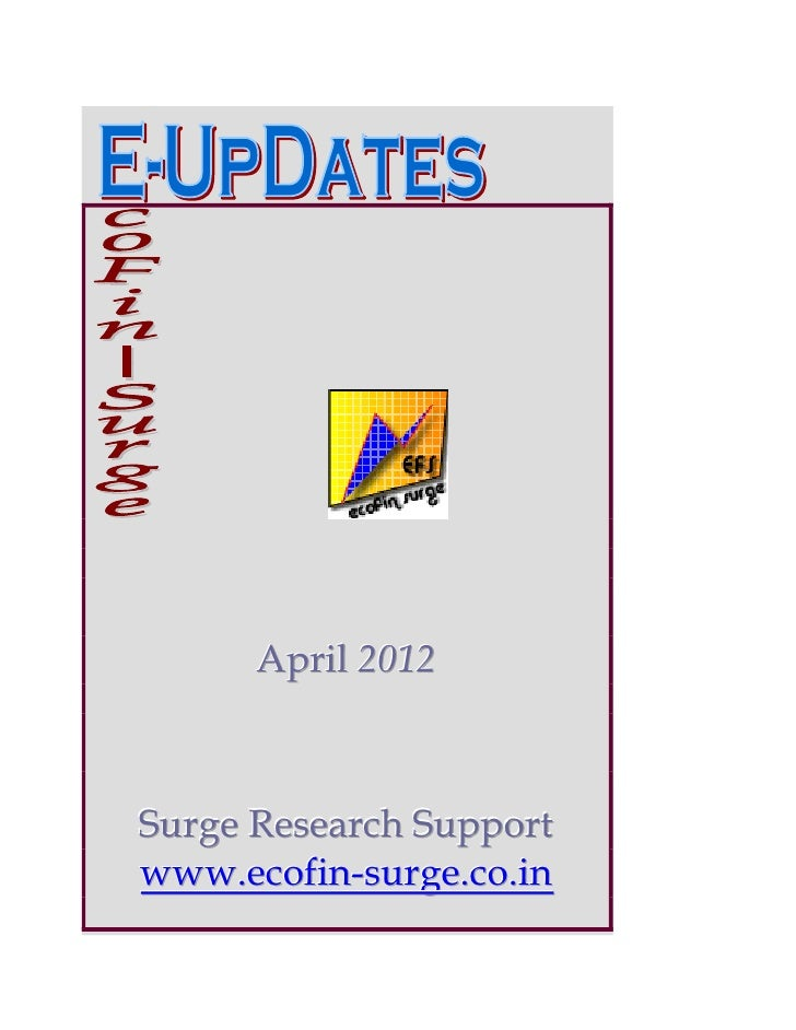 April 2012Surge Research Supportwww.ecofin-surge.co.in
