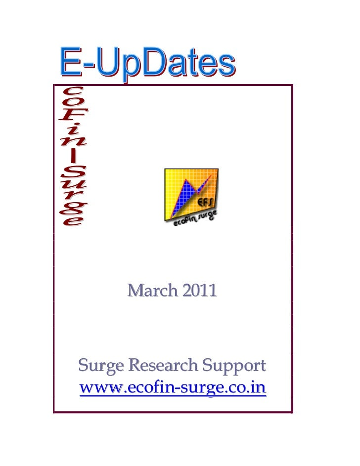 March 2011Surge Research Supportwww.ecofin-surge.co.in