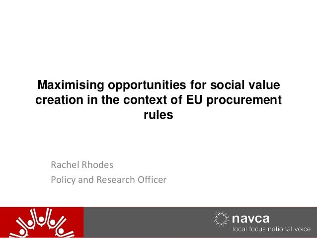 20/05/2014 120/05/2014 1NAVCA Maximising opportunities for social value creation in the context of EU procurement rules Ra...