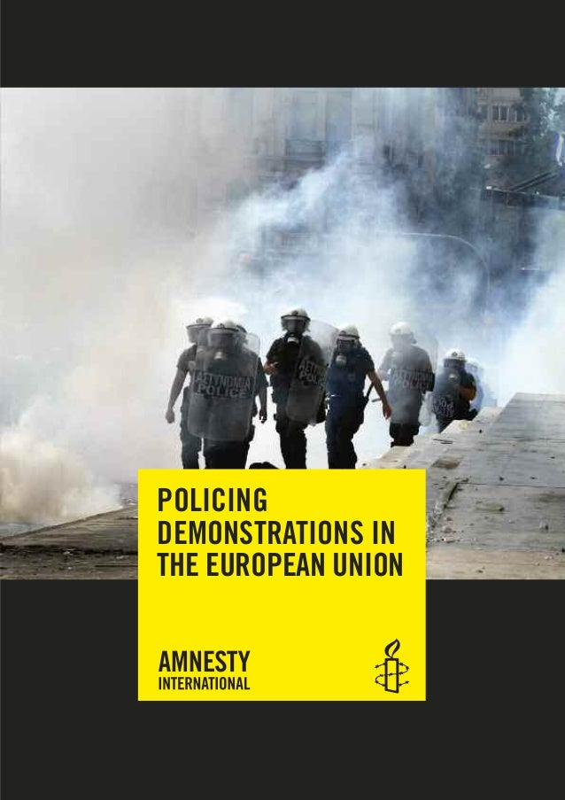 POLICING DEMONSTRATIONS IN THE EUROPEAN UNION