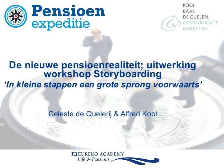 Meest opvallende uitkomsten van de workshop Communicatie binnen het nieuwe pensioensbewustzijn