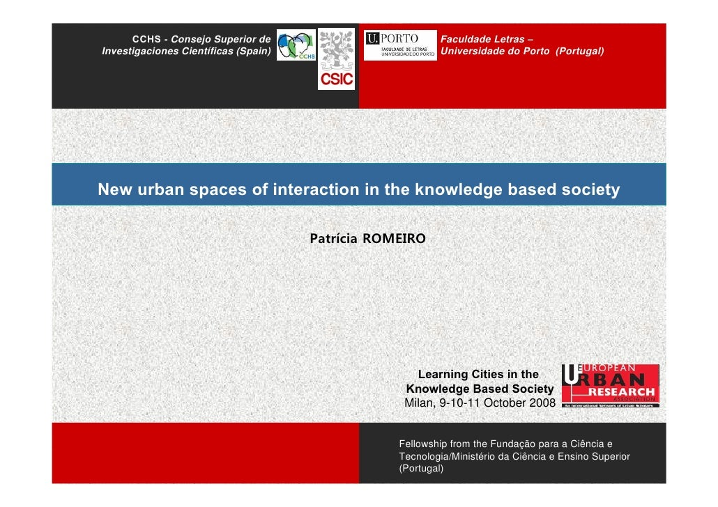 New Urban Spaces Of Interaction Knowledge Society RomeiroP