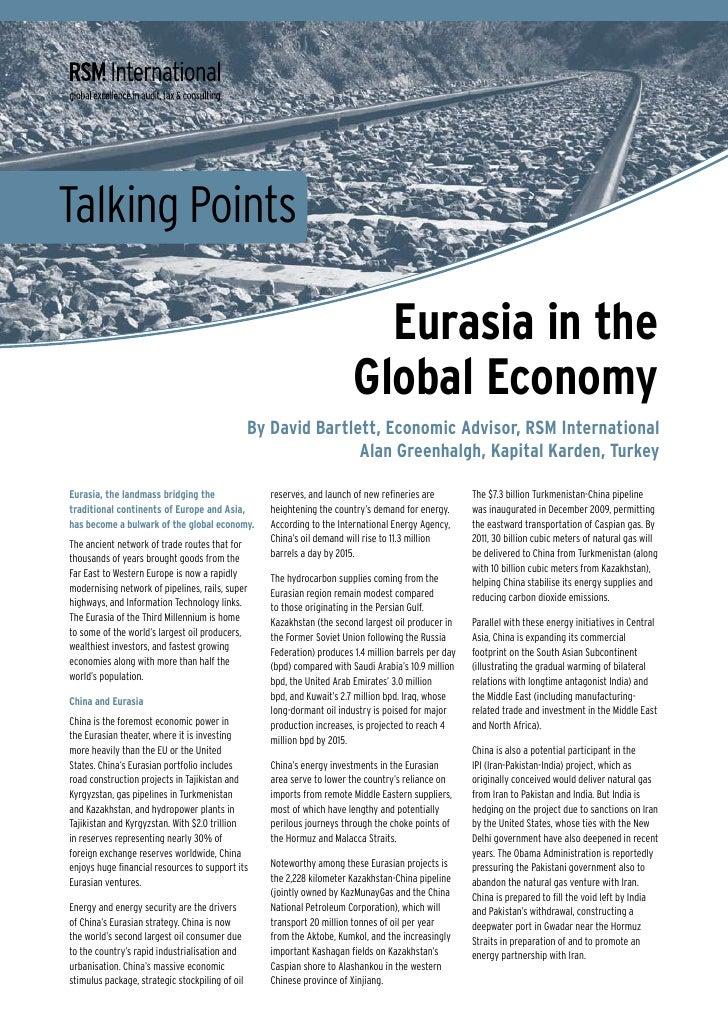 Eurasia In The Global Economy | Alan Greenhalgh