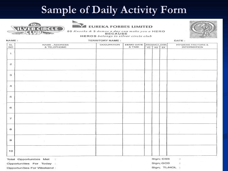 sample daily sales report format