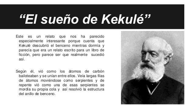 Resultado de imagen de kekule sueño benceno