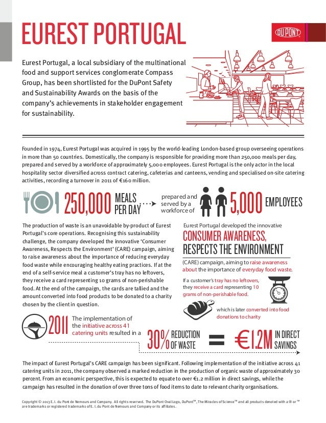 Eurest Portugal | DuPont Safety and Sustainability Awards 2013