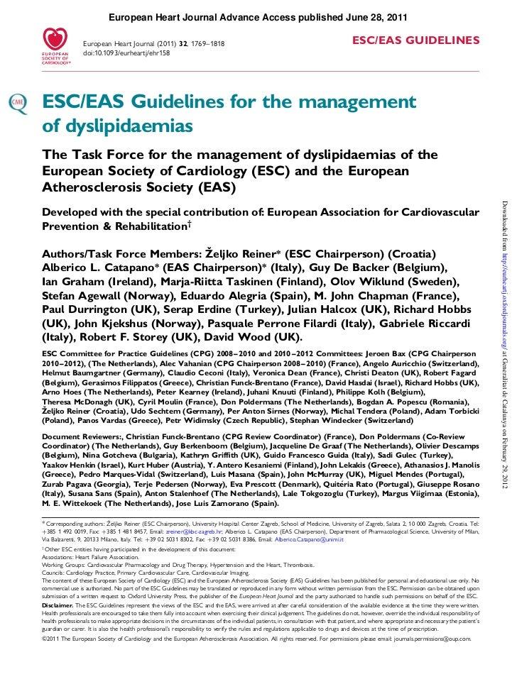 European Heart Journal Advance Access published June 28, 2011                 European Heart Journal (2011) 32, 1769–1818 ...