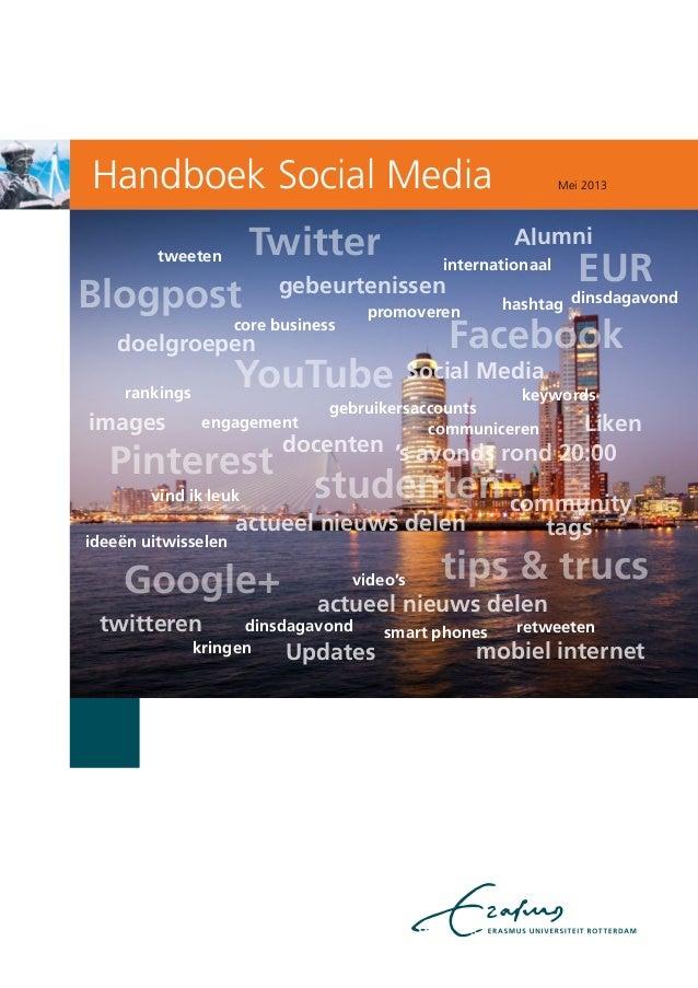 Handboek Social Mediagebruikersaccountscommunicereninternationaalcore businessvideo'skringenhashtagpromoverenrankingsideeë...