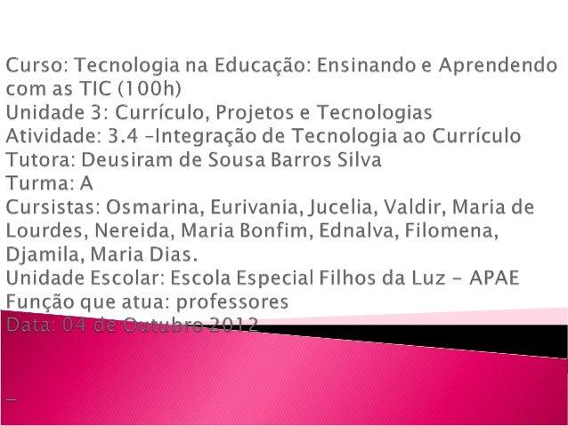 Comemoração do dia da criação do            estado do Tocantins    Escola Especial filhos da Luz – APAE           Colméia ...