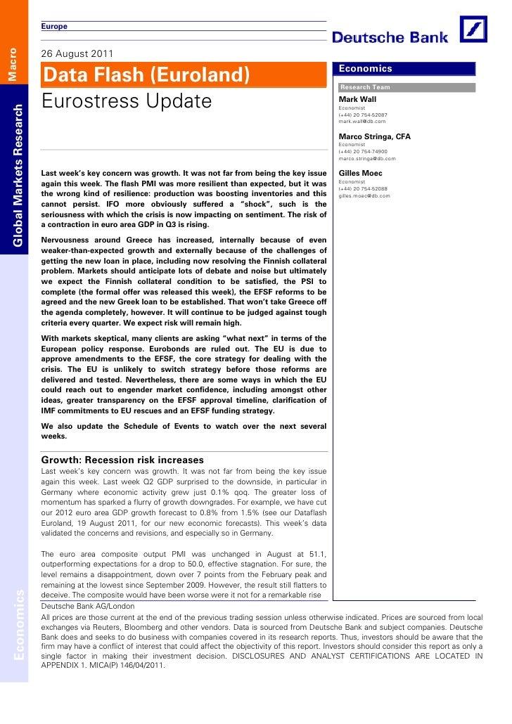 Europe                           26 August 2011Macro                           Data Flash (Euroland)                      ...