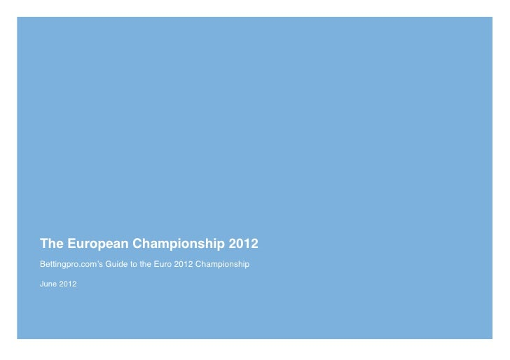 Euro 2012 betting guide