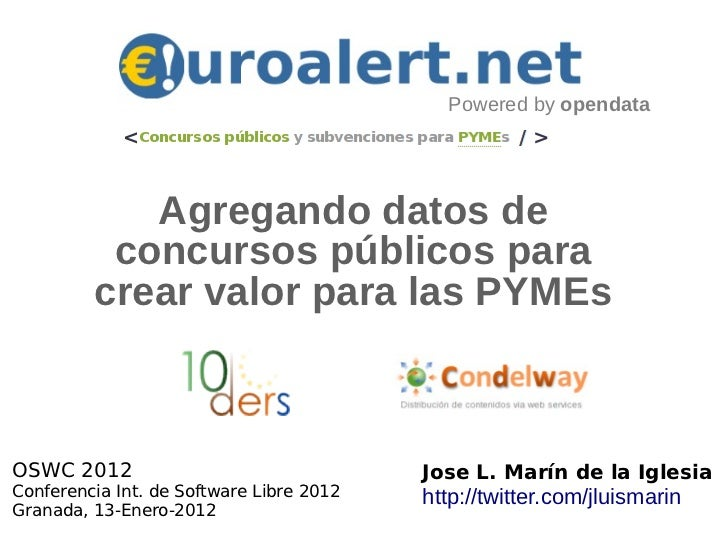 Agregando datos de  concursos públicos para crear valor para las PYMEs