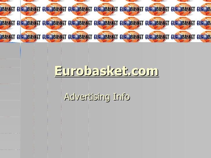 Eurobasket.com Advertising Info